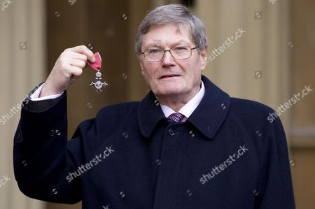 Stock Photo of Clive Collins received the MBE for services to art