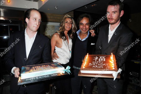 Tara Bernerd and Aron Harilela with their cakes