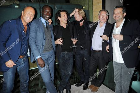 Glen Spyros, Ozwald Boateng, Stephen Webster, Nicky Clark, Simon Kelner and Mark Hix
