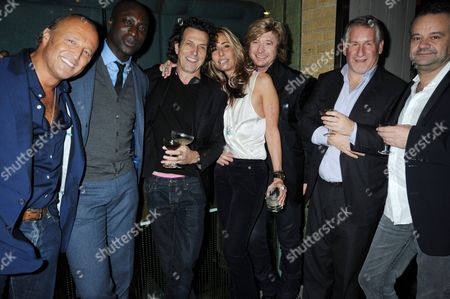 Stock Picture of Glen Spyros, Ozwald Boateng, Stephen Webster, Tara Bernerd, Nicky Clark, Simon Kelner and Mark Hix