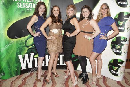 Gemma Atkins, Charlotte Scott, Jacqueline Hughes, Chloe Hart and Michelle Pentecost