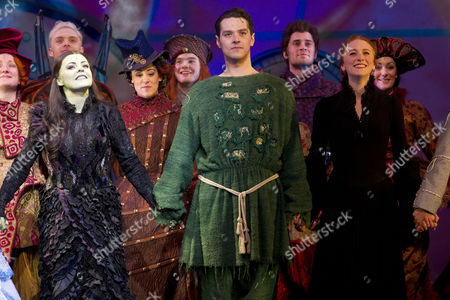Rachel Tucker (Elphaba), Matt Willis (Fiyero) and Lillie Flynn (Nessarose)