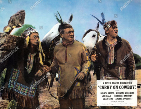 Carry On Cowboy,  Charles Hawtrey, Sid James and Percy Herbert