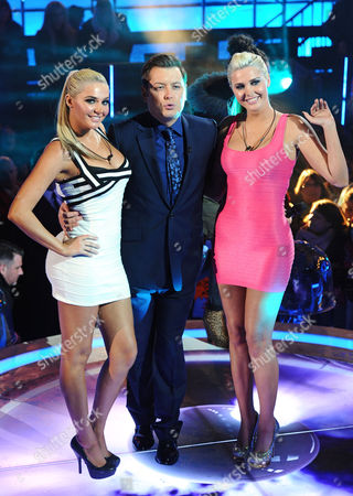 Kristina and Karissa Shannon with Brian Dowling