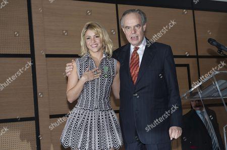 Shakira and Frederic Mitterand