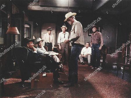 Bad Day At Black Rock,  Spencer Tracy,  Robert Ryan,  Russell Collins,  Walter Brennan,  Lee Marvin,  Walter Sande,  Dean Jagger