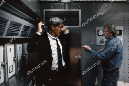 """Max McElligott Petersen (Director) on Set """"Air Force One (1997)"""" with Harrison Ford"""