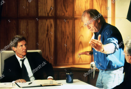 """Max McElligott Petersen (Director) on Set on Set """"Air Force One (1997)"""" with Harrison Ford"""