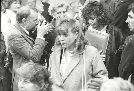 Wendy Jane Walker At Funeral Of Fellow Coronation Street Actress Pat Phoenix 1986.