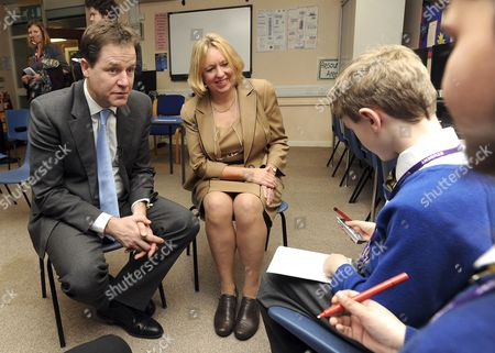 Nick Clegg and Lorely Burt answer questions from children