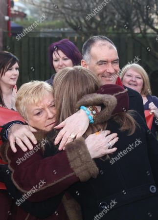 Stock Picture of Well-wisher, Gail Sheridan and Tommy Sheridan