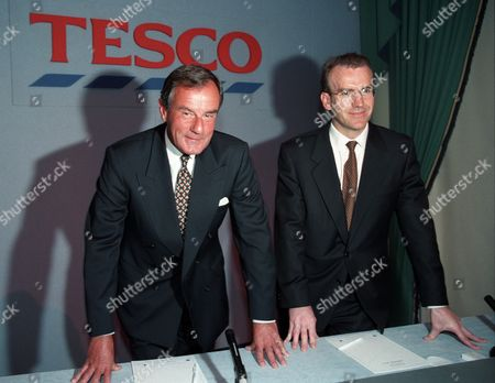 Stock Photo of Lord MacLaurin and Terry Leahy of Tesco, London, Britain