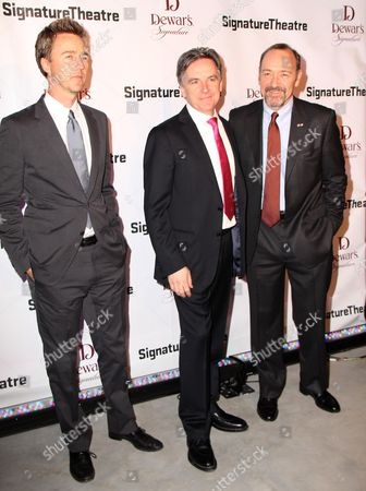 Stock Picture of Edward Norton, James Houghton and Kevin Spacey