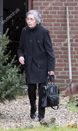 Sonja Tabak Mother Of Vincent Tabak Who Has Been Charged With The Murder Of Jo Yeates Leaves The Home Of Her Eldest Son Marcel Doorenburg Netherlands .