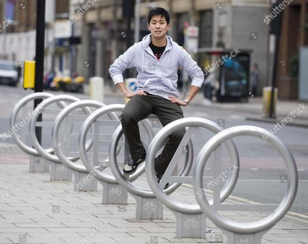 Editorial picture of Young Entrepreneur Anthony Lau Md Of Cyclehoop Ltd Picture By Glenn Copus