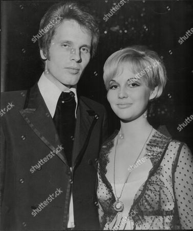 John Walker / John Maus Of Pop Group The Walker Brothers With Jayne Harries (no Further Details) At Grosvenor House Hunt Ball 1967.