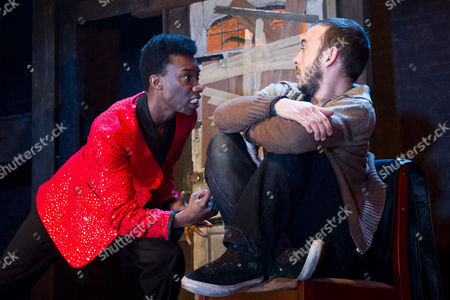 Stock Picture of Nathan Stewart-Jarrett as Cosmo Disney and Chris New as Presley Stray