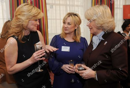 Camilla Duchess of Cornwall meets Anthea Turner (left) and Wendy Turner-Webster