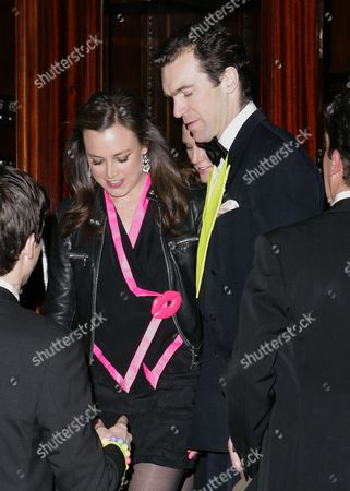 Editorial image of Guests leave the Chester Grosvenor Hotel to attend Hugh Grosvenor's 21st birthday, Chester, Britain - 28 January 2012