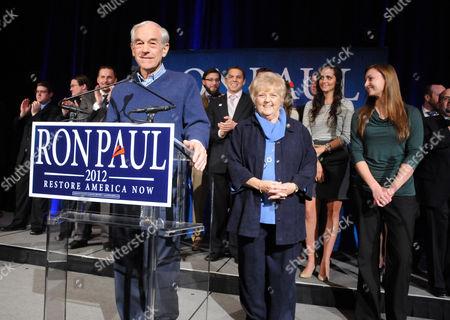 Ron Paul and wife Carol Wells