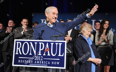 Editorial image of Ron Paul campaigning in Las Vegas, America - 31 Jan 2012