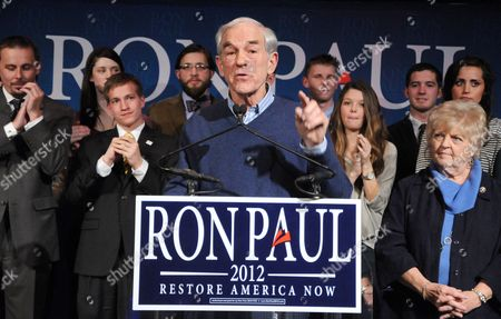 Stock Image of Ron Paul and wife Carol Wells