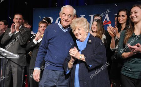 Stock Photo of Ron Paul and wife Carol Wells
