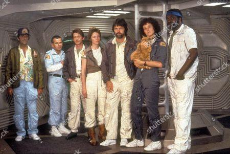 Alien,  Harry Dean Stanton,  Yaphet Kotto,  Ian Holm,  John Hurt,  Tom Skerritt,  Veronica Cartwright,  Sigourney Weaver