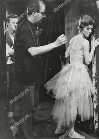 Stock Image of Moira Shearer Ballet Dancer And Actress (dead 01/06) With Terence Young On The Set Of The Film Cyrano De Bergerac
