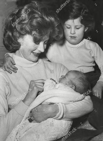 Editorial image of Moira Shearer Poses With Her New Baby And Daughter