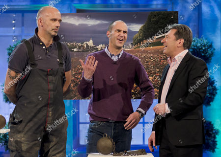 Stock Image of Steve Brooker, Johnny Vaughan and Alan Titchmarsh