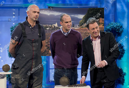 Stock Picture of Steve Brooker, Johnny Vaughan and Alan Titchmarsh