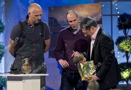 Steve Brooker, Johnny Vaughan and Alan Titchmarsh