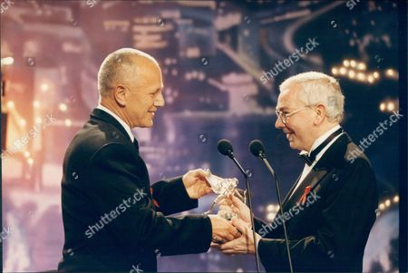 Steven Berkoff Presenting The Evening Standard British Film Awards To Terrence Davies For The Best Screen Play