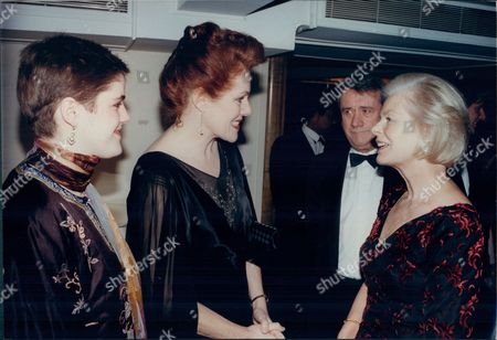 Lynn Redgrave Kelly Redgrave Meet The Duchess Of Kent Watched By Evening Standard Editor John Lees