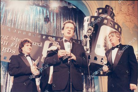 Ian Le Frenais Ruddy Doyle And Dick Clement Pictured At The Evening Standard Film Awards For 1992