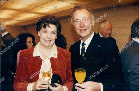 Paul Eddington Actor With His Wife Patricia At The Evening Standard Drama Awards