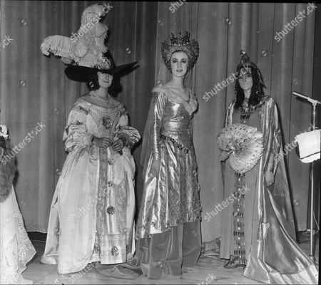 Bewitching Women L-r: Lady Caroline Cadogan (nell Gwynne) Lady Alexandra Wilson (guinevere) Hon. Roxana Ross (queen Sheba).