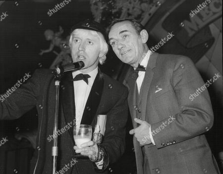 Disc Jockey And Compere Jimmy Savile And Actor Sam Kydd At The Weekend Mail Ball At The Lyceum Ballroom London.