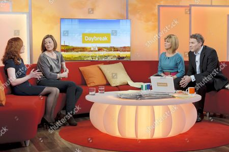 Natalie Gavin and Pippa Haywood with Presenters Dan Lobb and Kate Garraway