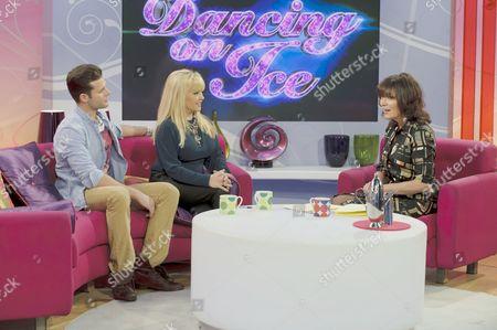 Matthew Gonzalez and Charlene Tilton with Presenter Lorraine Kelly