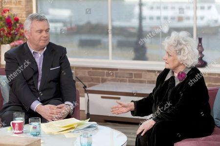Presenter Eamonn Holmes with Jean Boht