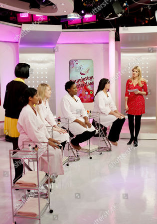Natalya Nair and Presenter Holly Willoughby with viewers