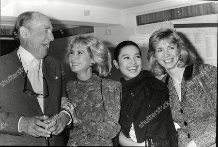 Sir Michael Hordern Felicity Kendal Lea Salonga And Jane Asher At The Evening Standard Drama Awards