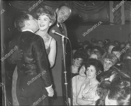 L-r: Actor Alfie Bass Actress June Thorburn And Actor Bill Fraser At The Weekend Mail Ball 1962.