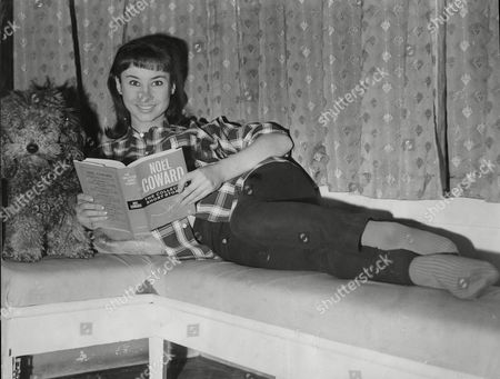 Carole Ann Ford Actress Reading Noel Coward Book 1963.