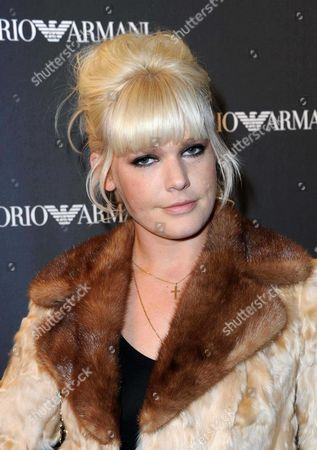 Editorial image of Emporio Armani store opening party, Paris, France - 02 Feb 2012