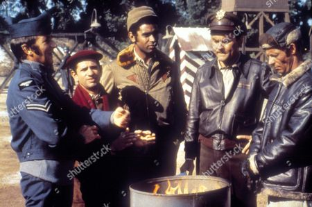 Hogan's Heroes ,  Richard Dawson,  Robert Clary,  Kenneth Washington,  Bob Crane,  Larry Hovis