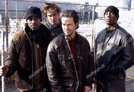 Four Brothers,  Andre Benjamin,  Garrett Hedlund,  Mark Wahlberg,  Tyrese Gibson