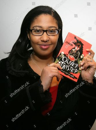 J D Sharpe with her book 'Oliver Twisted'
